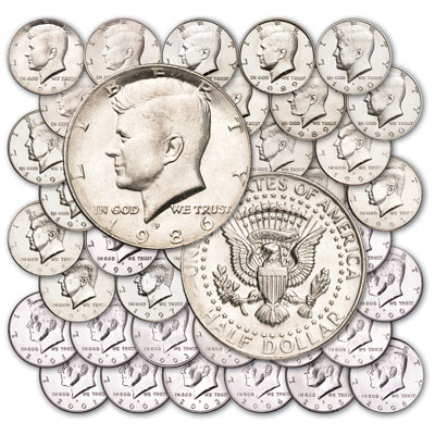 Image for 1986-2006 P&D Kennedy Half Dollar Set from Littleton Coin Company