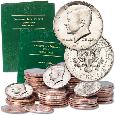 Image for 1986-2017 P&D Kennedy Half Dollar Set from Littleton Coin Company