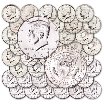 Image for 1986-2007 P&D Kennedy Half Dollar Set from Littleton Coin Company