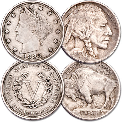 Image for First-Year Type One 1883 & 1913 Nickel Set from Littleton Coin Company