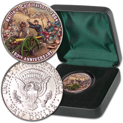 Image for 2014 Colorized Civil War Kennedy Half Dollar Battle of Cold Harbor from Littleton Coin Company