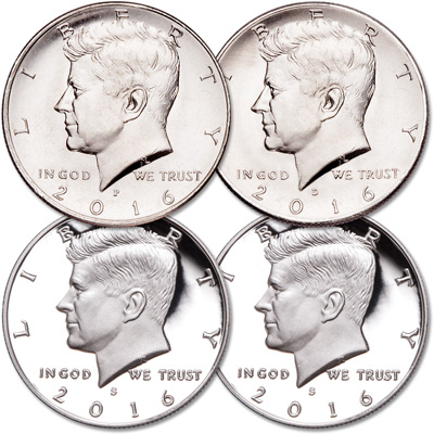 Image for 2016 PDSS Kennedy Half Dollar Set from Littleton Coin Company