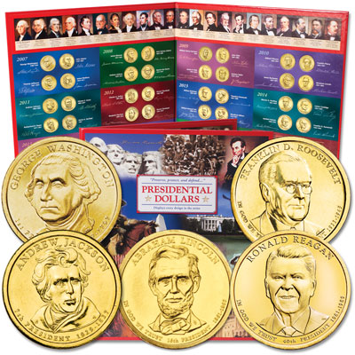 Image for 2007-2016 Presidential Dollar Set with Folder from Littleton Coin Company