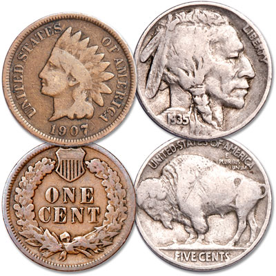 Image for Indian Cent & Buffalo Nickel from Littleton Coin Company