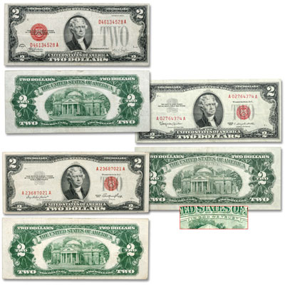 Image for 1928-1963 $2 Legal Tender Note Set (3 notes) from Littleton Coin Company