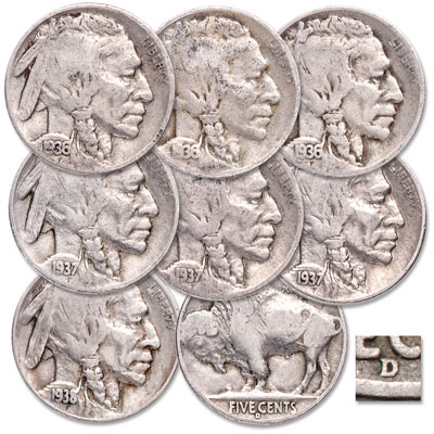 Image for 1936-1938 Last Buffalo Nickels Set from Littleton Coin Company