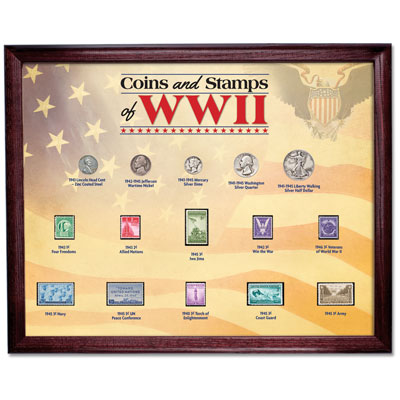 Image for WWII Coins and Stamps Frame Set from Littleton Coin Company