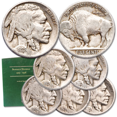 Image for 1920-1929 Buffalo Nickel Set (6 coins) with Folder from Littleton Coin Company