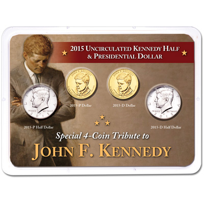 Image for John F. Kennedy Life & Legacy Uncirculated Set in Showpak from Littleton Coin Company
