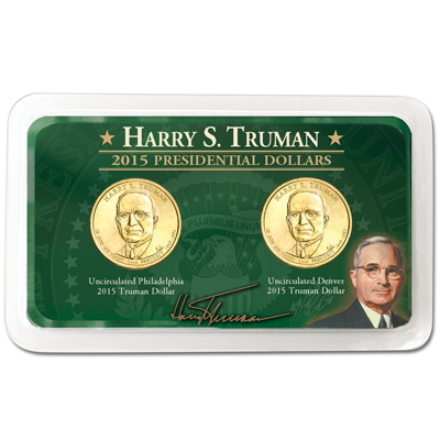 Image for 2015 P&D Harry S. Truman Presidential Dollar Showpak from Littleton Coin Company