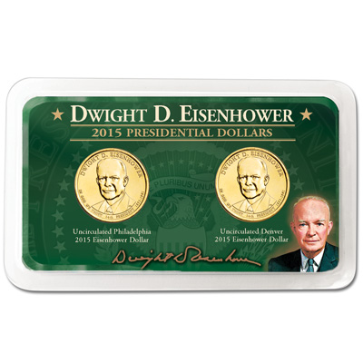 Image for 2015 P&D Dwight D. Eisenhower Presidential Dollar Showpak from Littleton Coin Company