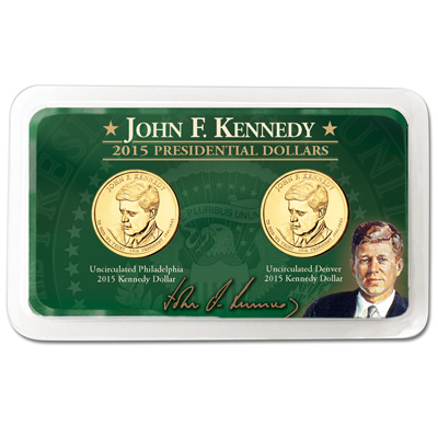 Image for 2015 P&D John F. Kennedy Presidential Dollar Showpak from Littleton Coin Company