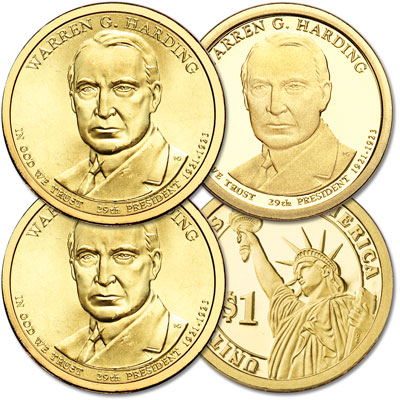 Image for 2014 PDS Warren G. Harding Presidential Dollar Set from Littleton Coin Company