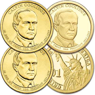 Image for 2014 PDS Calvin Coolidge Presidential Dollar Set from Littleton Coin Company