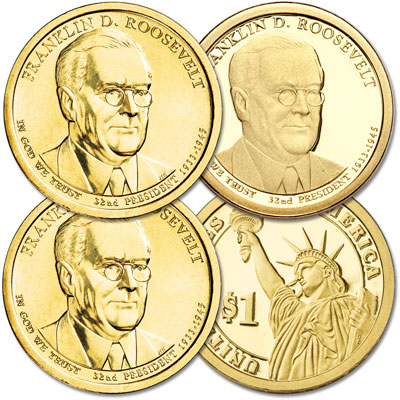 Image for 2014 PDS Franklin D. Roosevelt Dollar Set from Littleton Coin Company