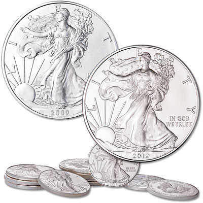 Image for 2009-2019 American Silver Eagle Year Set from Littleton Coin Company