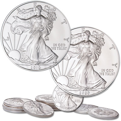 Image for 2010-2020 American Silver Eagle Year Set from Littleton Coin Company
