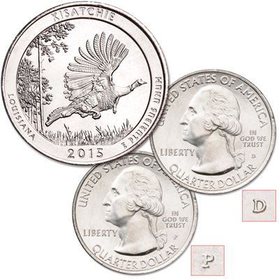 Image for 2015 P&D Kisatchie National Forest Quarter Set from Littleton Coin Company