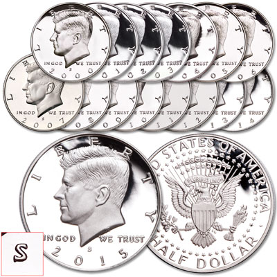 Image for 2000-2015 Kennedy Half Dollar Set from Littleton Coin Company