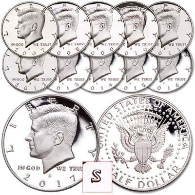 "Image for 2007-2017 ""S"" Mint Kennedy Half Dollar Set from Littleton Coin Company"