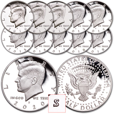 "Image for 2010-2020 ""S"" Mint Kennedy Half Dollar Set from Littleton Coin Company"