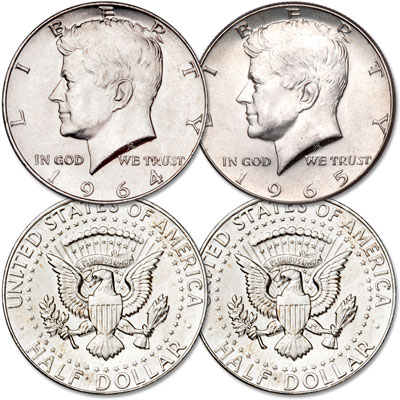 Image for 1964-1965 Kennedy Half Dollar Set (2 coins) from Littleton Coin Company