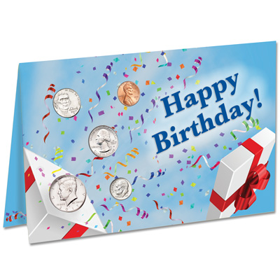 Image for 2017 U.S. Coin Happy Birthday Card from Littleton Coin Company