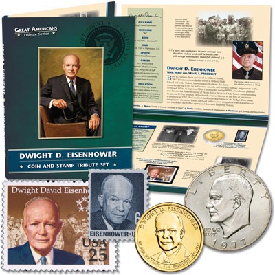 Image for Eisenhower Coin & Stamp Tribute Set from Littleton Coin Company