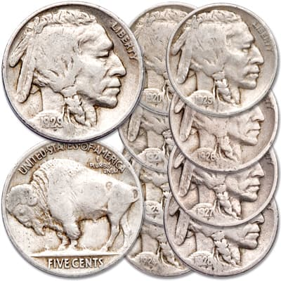 "Image for 1920-1929 ""P"" Mint Buffalo Nickel Set from Littleton Coin Company"