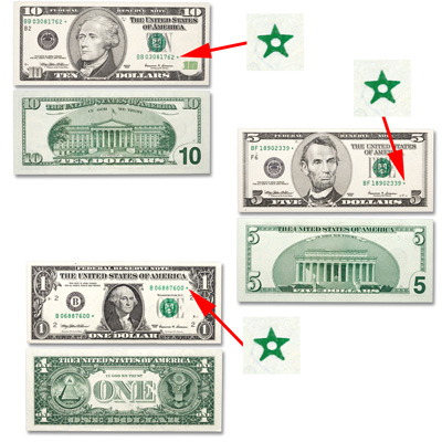 Image for 1999 $1, $5, $10 Federal Reserve Star Note Set from Littleton Coin Company