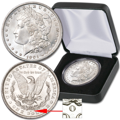 Image for 1901-O Morgan Silver Dollar in Display Case from Littleton Coin Company