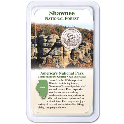 Image for 2016 Shawnee National Forest Quarter in Showpak from Littleton Coin Company