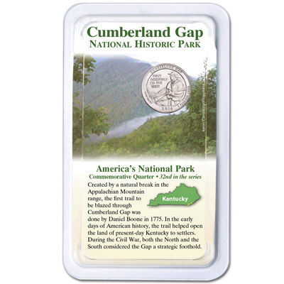 Image for 2016 Cumberland Gap National Historical Park Quarter in Showpak from Littleton Coin Company