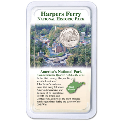 Image for 2016 Harpers Ferry National Historical Park Quarter in Showpak from Littleton Coin Company
