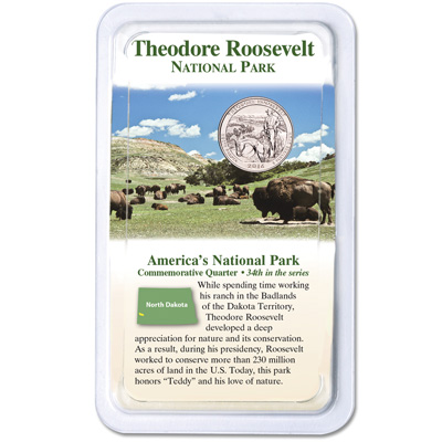 Image for 2016 Theodore Roosevelt National Park Quarter in Showpak from Littleton Coin Company