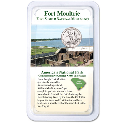 Image for 2016 Fort Moultrie (Fort Sumter National Monument) Quarter in Showpak from Littleton Coin Company