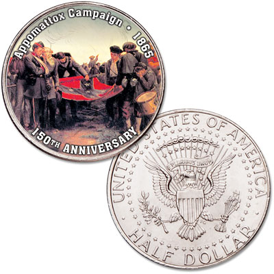 Image for 2015 Colorized Kennedy Half Dollar Appomattox from Littleton Coin Company