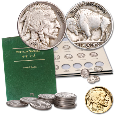 Image for 1934-1938 Buffalo Nickel Short Set from Littleton Coin Company