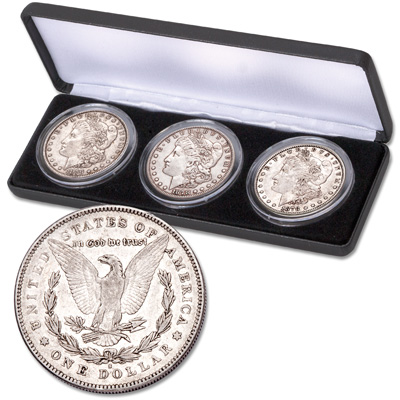 Image for 1878 Morgan Dollar Set in Display Case from Littleton Coin Company