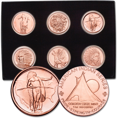 Image for American Indian Copper Round Set from Littleton Coin Company