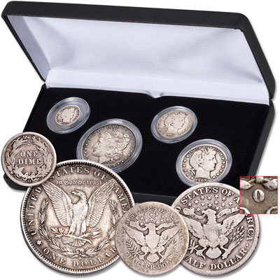 Image for 1884-1909 New Orleans Mint Denomination Set from Littleton Coin Company