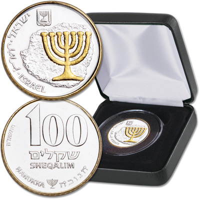Image for 1985 Israel Gold-Plated 100 Sheqalim from Littleton Coin Company