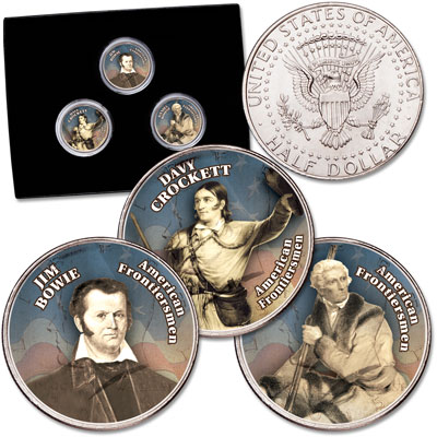 Image for Frontiersmen Colorized Kennedy Half Dollar Set from Littleton Coin Company