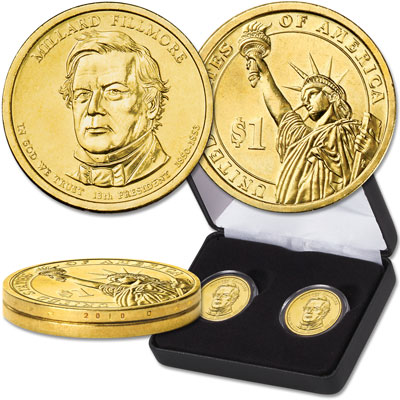 Image for 2010 Millard Fillmore Presidential Dollar Error & Regular Issue Set from Littleton Coin Company