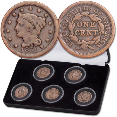 Image for 1816-1856 Large Cent Decade Set from Littleton Coin Company