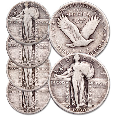 Image for 1926-1930 Standing Liberty Silver Quarter Set from Littleton Coin Company
