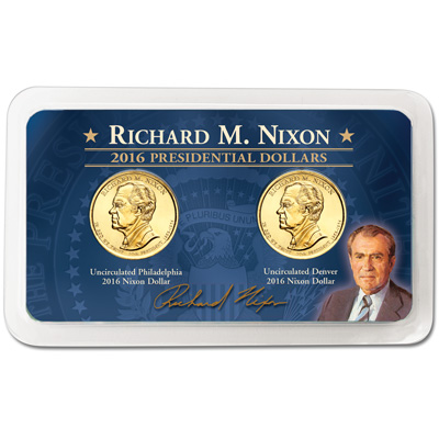 Image for 2016 P&D Richard M. Nixon Presidential Dollar Showpak from Littleton Coin Company