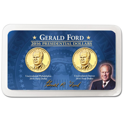 Image for 2016 P&D Gerald R. Ford Presidential Dollar Showpak from Littleton Coin Company