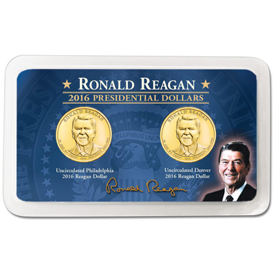 Image for 2016 P&D Ronald Reagan Presidential Dollar Showpak from Littleton Coin Company