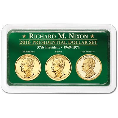 Image for 2016 Richard M. Nixon Presidential Dollars in Exclusive PDS Showpak from Littleton Coin Company